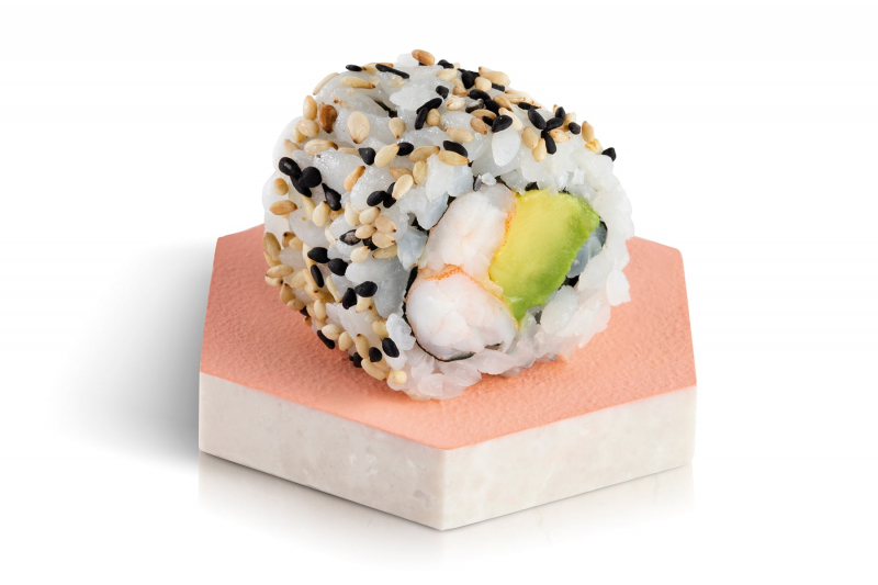 california roll crevette avocat