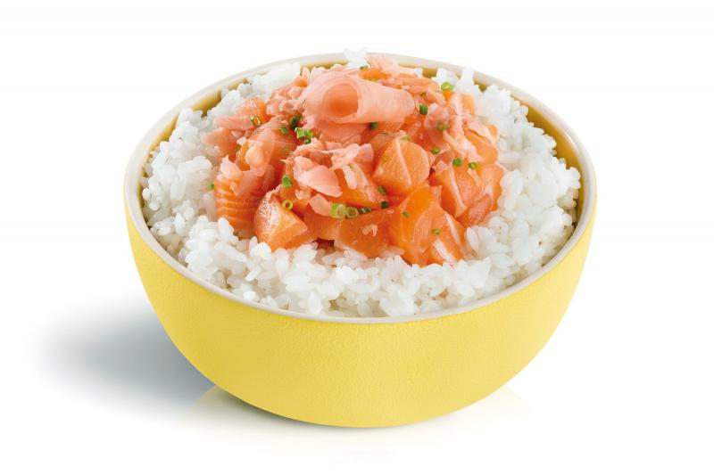 demi tartare saumon préparé
