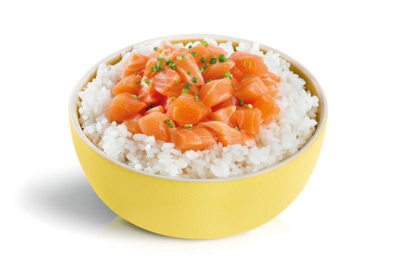 demi tartare saumon ciboulette