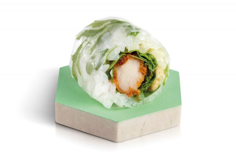 fresh rolls green chicken